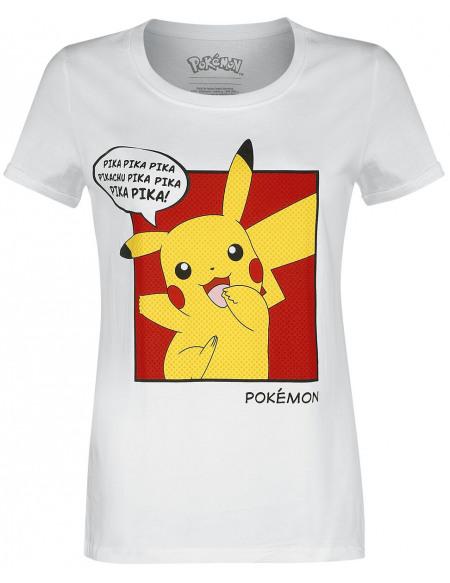 Pokémon Pika Pika Pika T-shirt Femme blanc