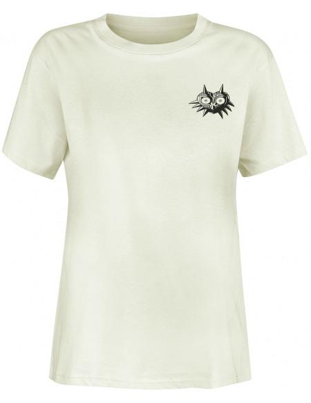The Legend Of Zelda Masque De Majoras T-shirt Femme blanc cassé