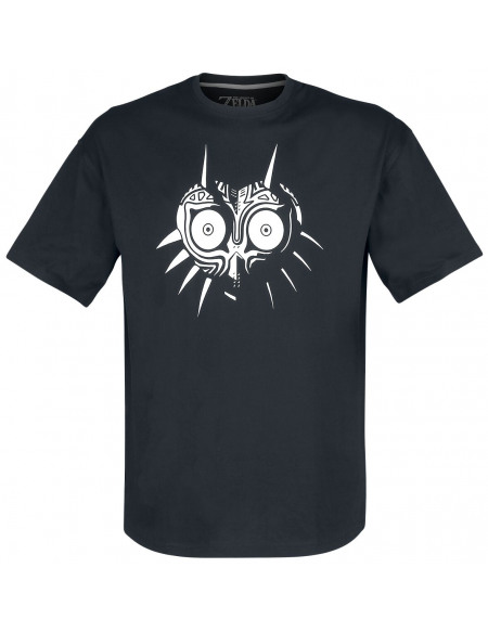 The Legend Of Zelda Masque De Majoras T-shirt noir