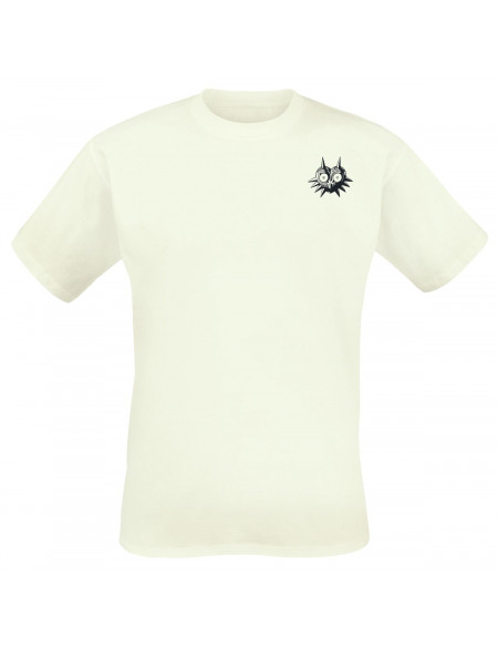 The Legend Of Zelda Masque De Majoras T-shirt blanc cassé
