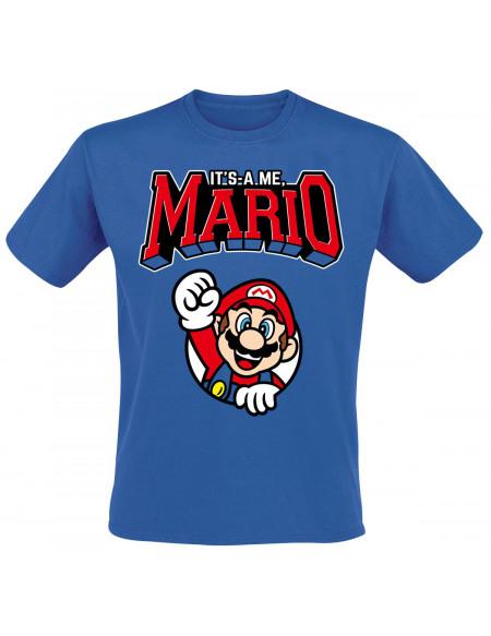 Super Mario Varsity T-shirt bleu
