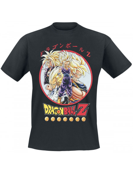 Dragon Ball Draon Ball Z - Personnages T-shirt noir