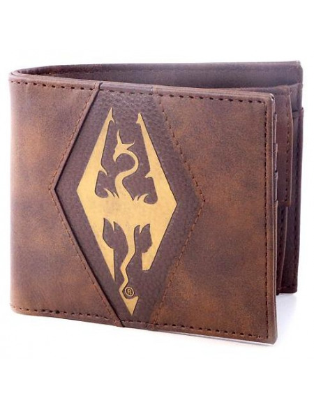 The Elder Scrolls The Elder Scrolls V - Symbole Dragon Portefeuille marron