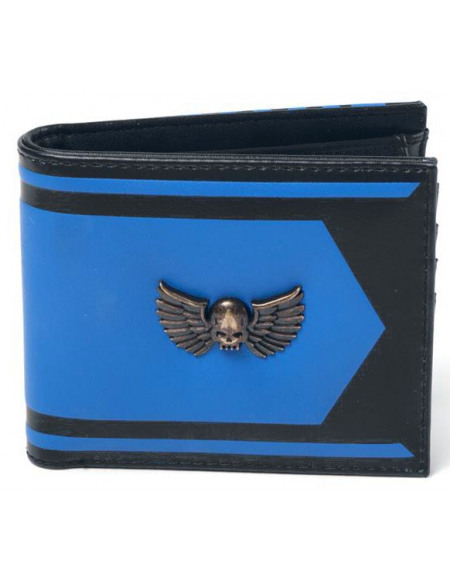 Warhammer 40.000 Space Marine Metal Badge Portefeuille noir/bleu