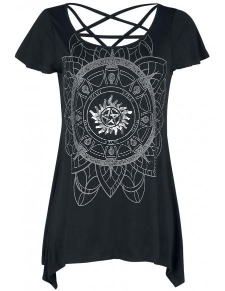 Supernatural Chasseur T-shirt Femme noir