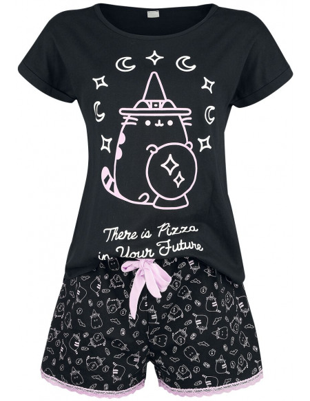 Pusheen There Is Pizza In Your Future Pyjama noir