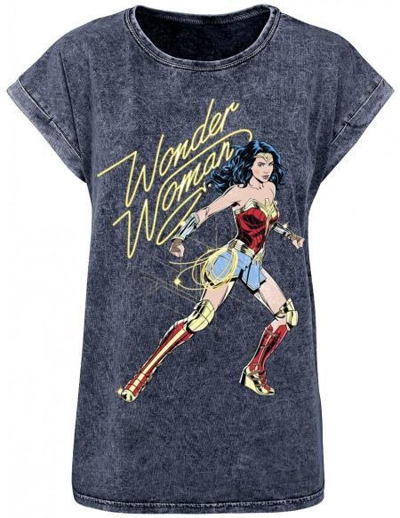 Wonder Woman T-shirt Femme bleu foncé