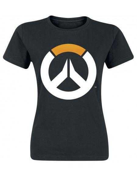 Overwatch Emblème T-shirt Femme noir