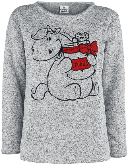 Chubby Unicorn Kekse Sweat-shirt gris chiné