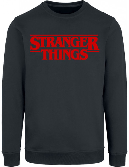 Stranger Things Logo Classique Sweat-shirt noir