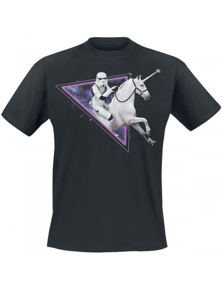Original Stormtrooper Riding The Unicorn Through Time And Space! T-shirt noir
