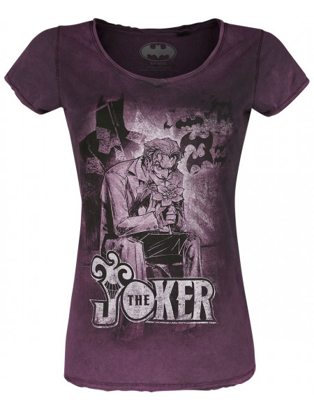 Batman Joker´s Shadow T-shirt Femme lilas