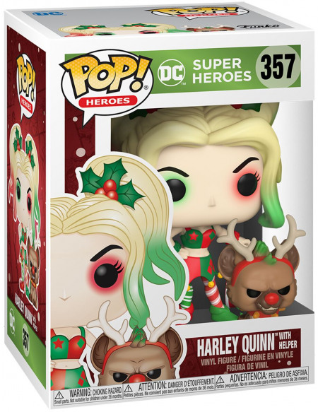 Figurine Funko Pop Heroes DC Holiday Harley Quinn with Helper