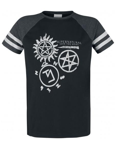 Supernatural Symbols T-shirt noir/gris
