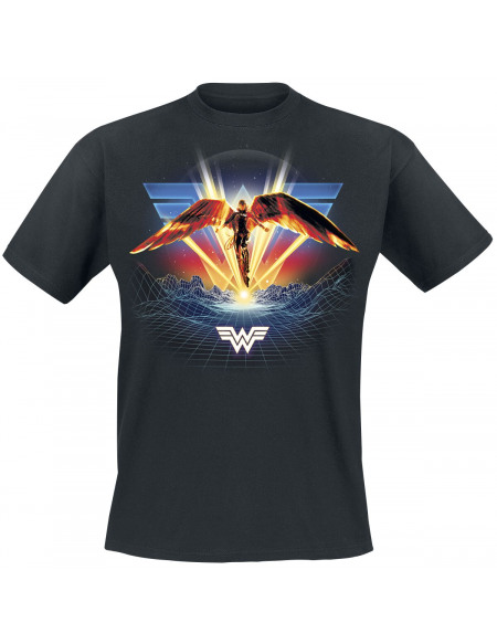 Wonder Woman Wonder Woman 1984 - Ailée T-shirt noir