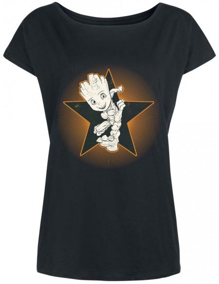 Les Gardiens De La Galaxie Groot T-shirt Femme noir