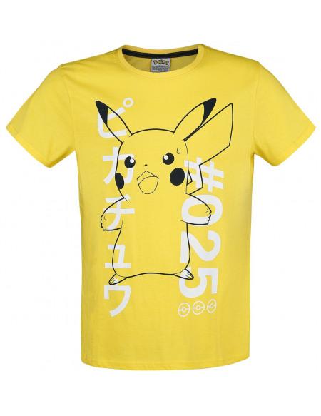 Pokémon Pikachu T-shirt jaune