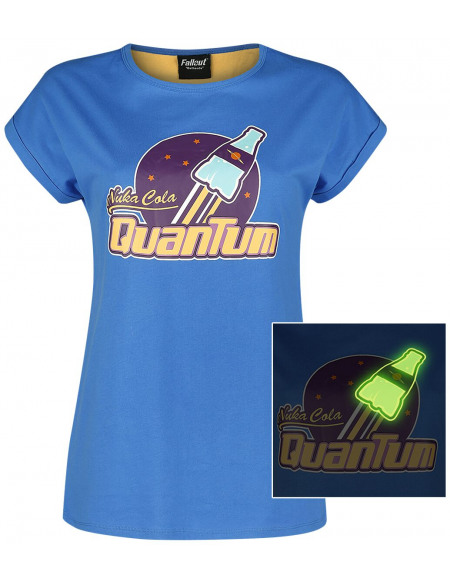 Fallout Nuka Cola Quantum T-shirt Femme bleu/jaune
