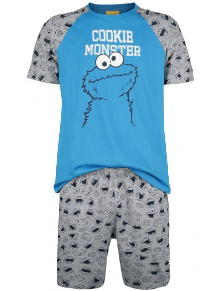 Sesame Street Macaron Le Glouton Pyjama gris