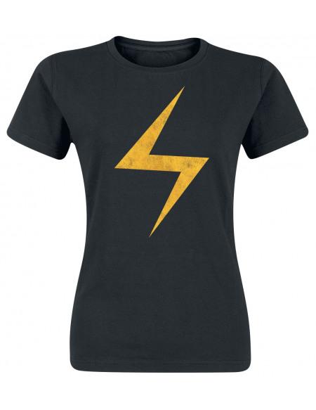 Avengers Éclair T-shirt Femme noir