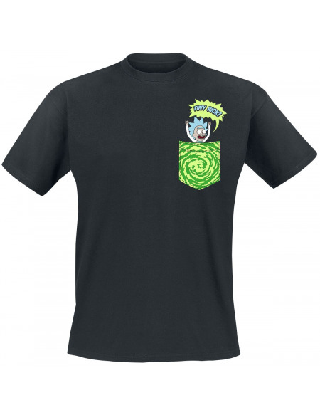 Rick & Morty Tiny Pocket Rick T-shirt noir