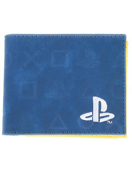 Playstation Boutons Portefeuille bleu/jaune