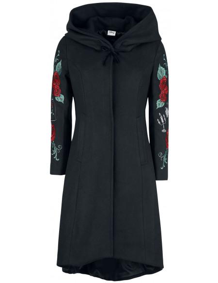 La Belle Et La Bête Rose Manteau Femme noir