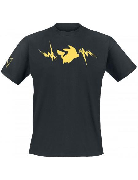 Pokémon Pikachu - Éclairs T-shirt noir