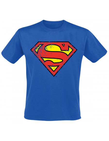 Superman Emblème T-shirt bleu