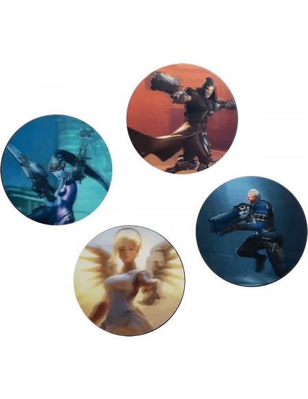 Overwatch Dessous De Verre 3D Dessous de verre multicolore
