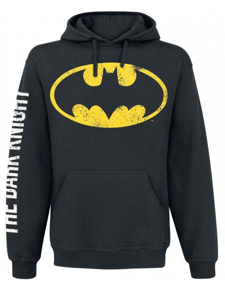 Batman The Dark Knight Sweat à capuche noir