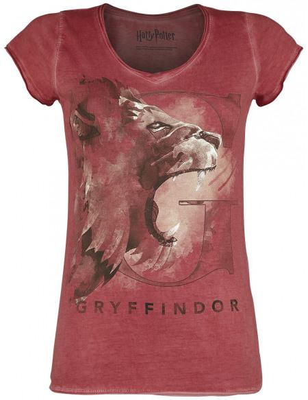 Harry Potter Gryffondor - Lion T-shirt Femme rouge