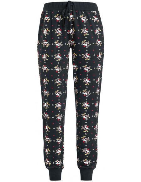 Mickey & Minnie Mouse Micky & Minnie Bas de pyjama noir