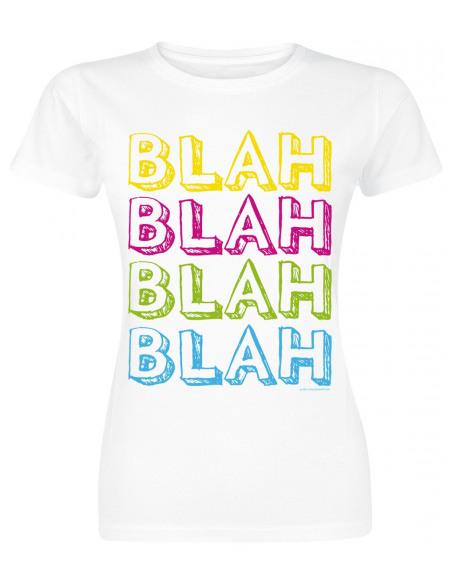 Blah Blah Blah Blah T-shirt Femme blanc