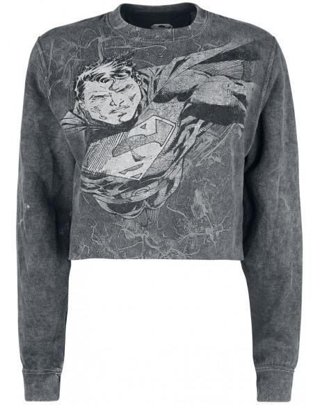 Superman Flying Crush Sweat-shirt noir/gris