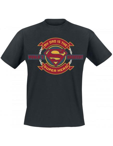Superman My Dad Is World´s Greatest Superhero T-shirt noir