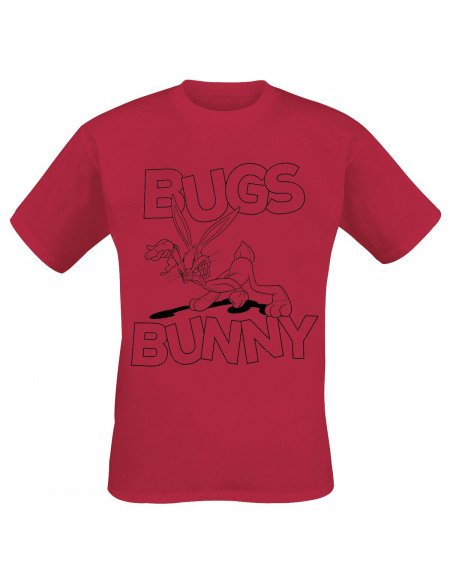 Looney Tunes Bugs Bunny T-shirt rouge