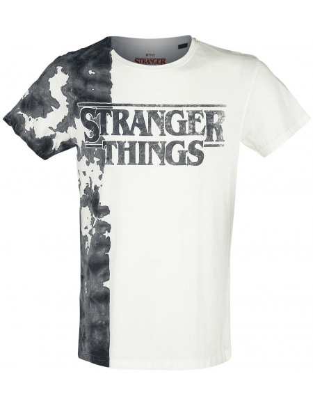 Stranger Things Logo Noir Encre T-shirt blanc/noir