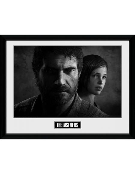 The Last Of Us Noir Et Blanc Photo encadrée Standard