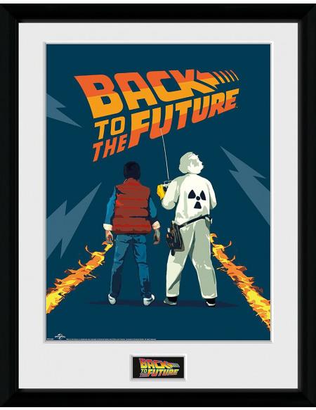 Retour Vers Le Futur Doc & Marty Photo encadrée Standard