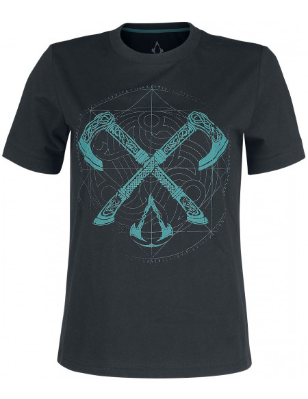 Assassin's Creed Valhalla - Haches T-shirt Femme noir