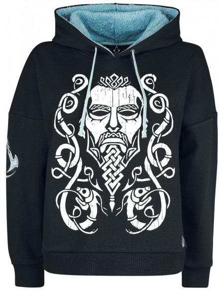 Assassin's Creed Valhalla - Eivor Sweat à Capuche Femme noir