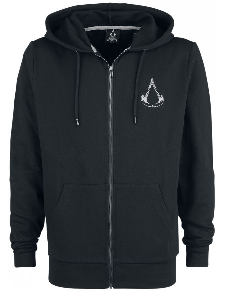 Assassin's Creed Valhalla - Blason Sweat Zippé à Capuche noir
