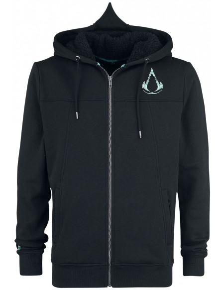 Assassin's Creed Valhalla - Bouclier & Marteau Sweat Zippé à Capuche noir