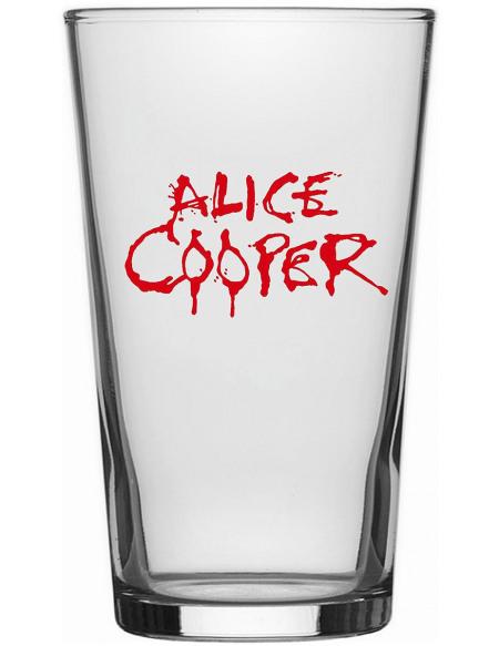 Alice Cooper Logo Verre à pinte transparent