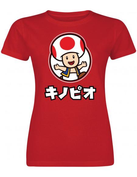 Super Mario Toad T-shirt Femme rouge
