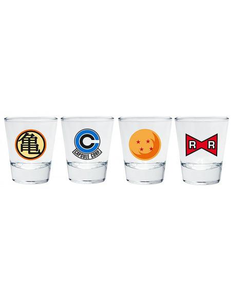 Dragon Ball Emblèmes Set verres à shots multicolore