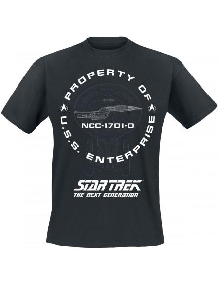Star Trek Enterprise T-shirt noir