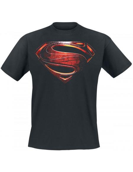 Superman Man Of Steel T-shirt noir
