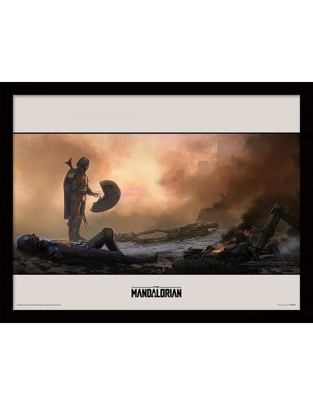 Star Wars The Mandalorian - Meet Photo encadrée standard